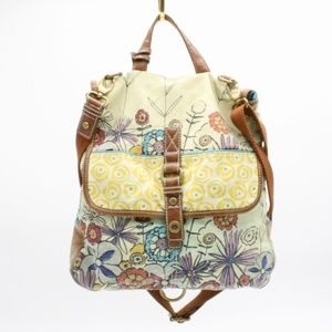 FOSSIL Vintage Floral Purse to Backpack